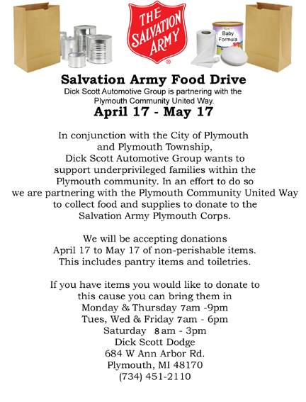 Salvation Army Food Drive