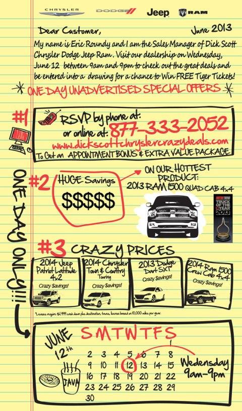 sale at dodge 6-12-13